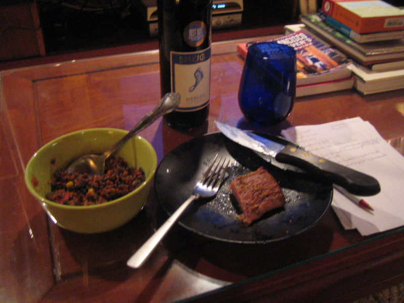 dinner and wine