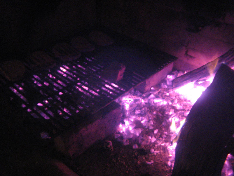 glowing grill